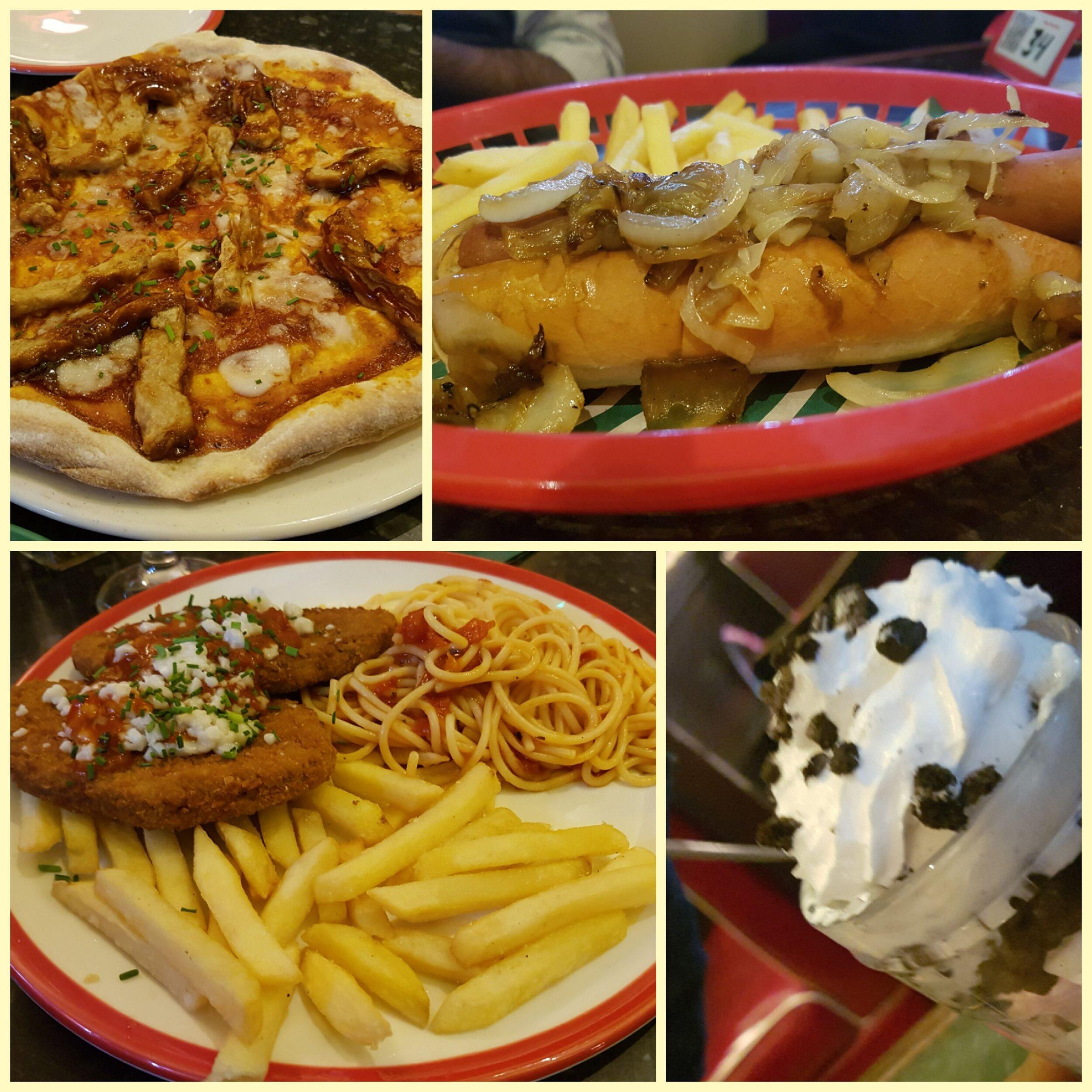 Vegan options at Frankie & Benny's