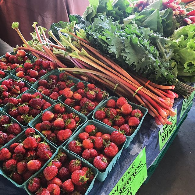 Strawberries at market! Farm stand too!