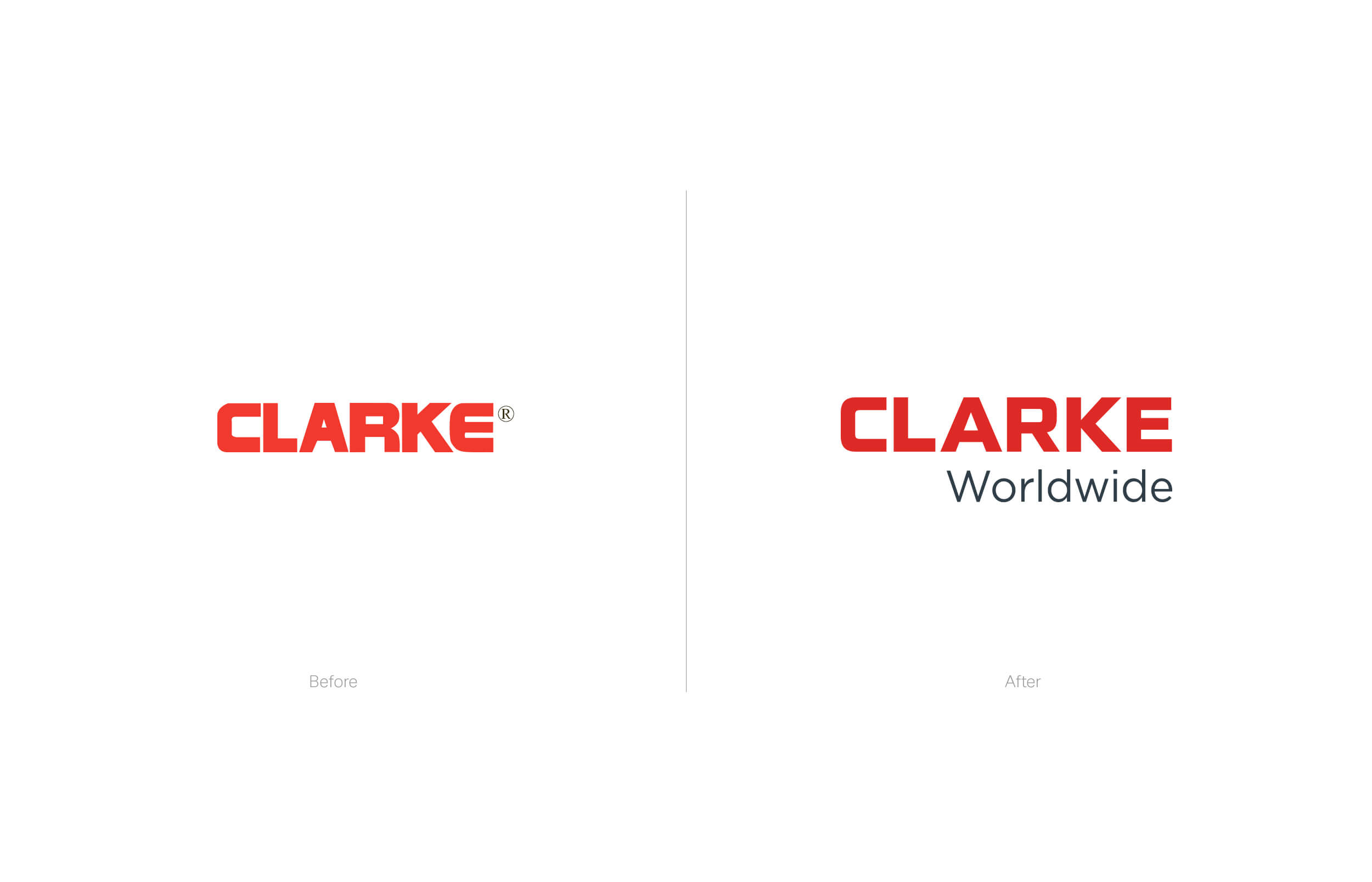 Clarke Worldwide Before and After