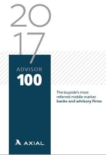 Charter Capital Partners is proud to announce that we have been included in Axial's 2017 Advisor 100 List for most referred middle-market advisory firms in the United States, according to a survey of 1,000 private equity firms, strategic acquirers, and family offices. Charter was the only firm in the country to be recognized as a niche specialist in the office furniture industry.