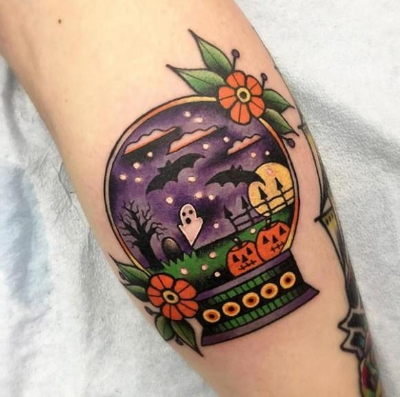 halloween-snow-globe-tattoo-580x577.jpg