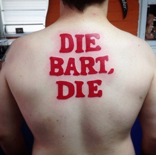 """This isn't what it looks like. It's actually German for """"The Bart, the."""
