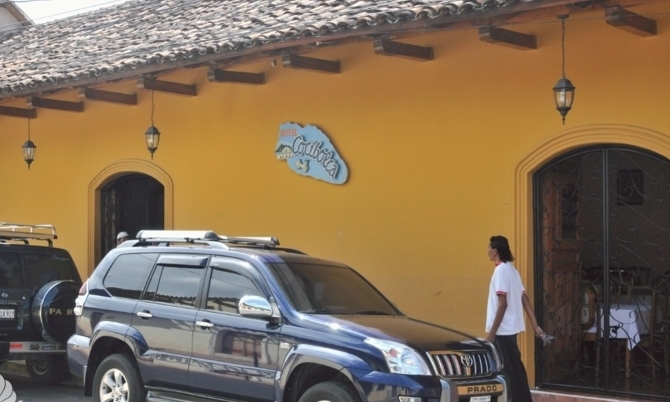 Street View of the Hotel, Calle El Caimito.