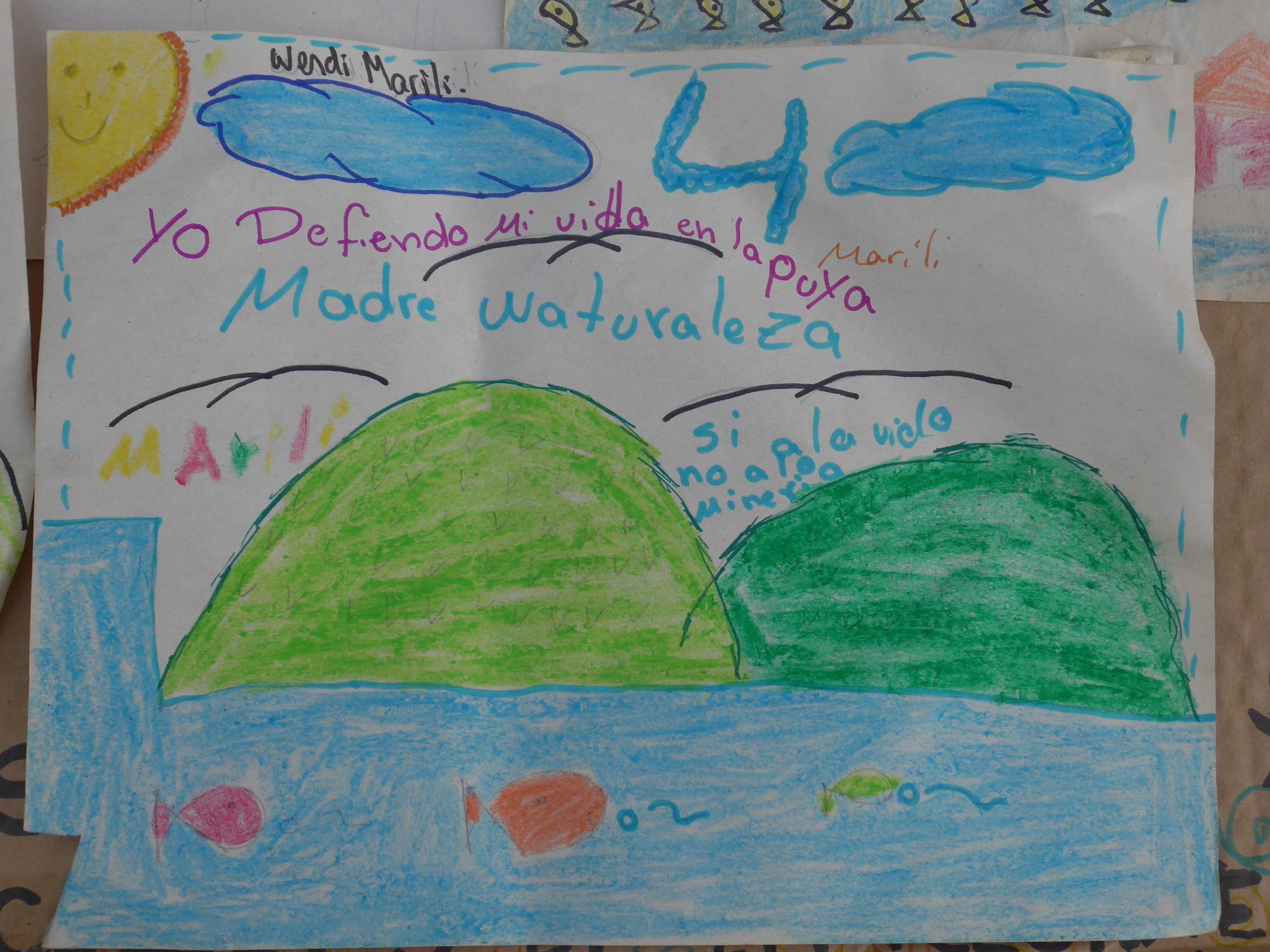 Expressión infantil de la realidad que se vive en su comunidad. A child's expression of their community's reality.