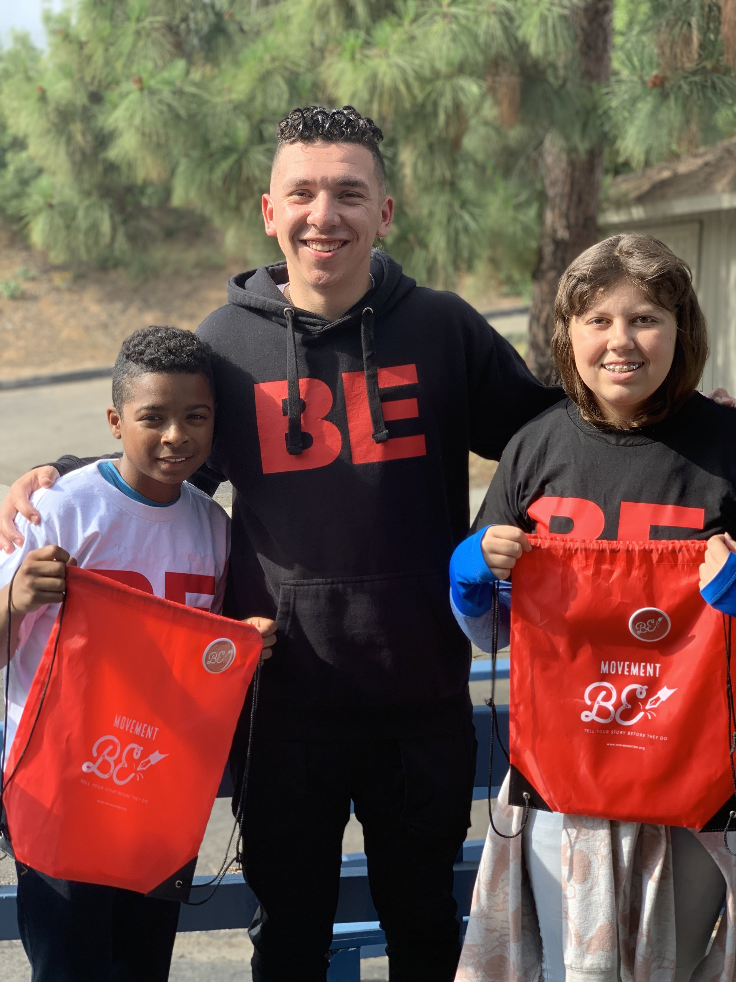 Instructor Emilio picked two brilliant students, Tyrell and Karen, to win some BE Swag Bags!