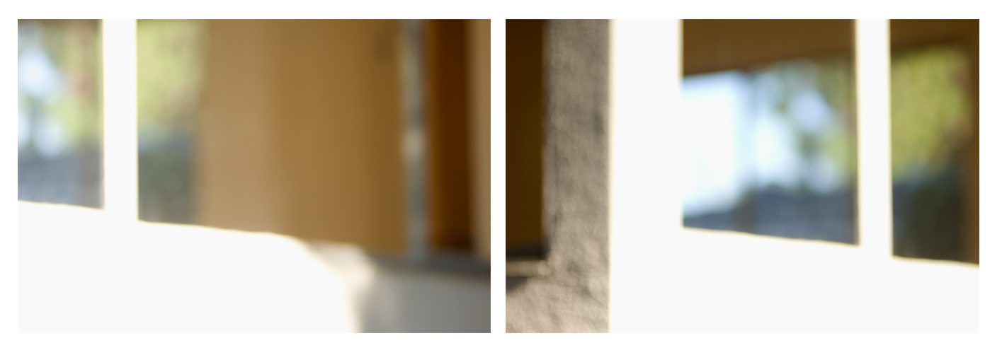 """very quickly the luminous background becomes more somber   c-prints, aluminum, wood, plexiglass, 11.5"""" x 37"""""""