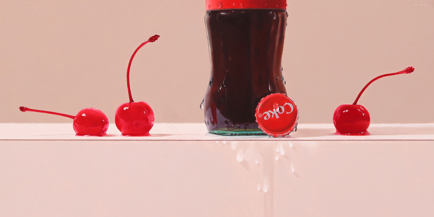 Cherry Coke  oil on panel / 12 x 24 inches  SOLD
