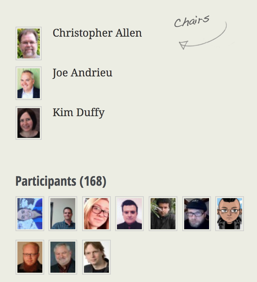 Credentials Community Group - W3C group exploring decentralized identifiers (DIDs), verifiable claims, and more
