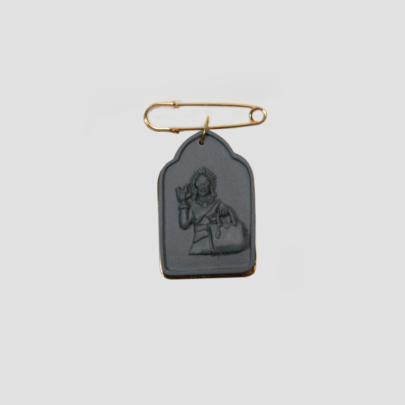 SOULMATE | PIN | Grey  3cm x 5cm x 0.5cm