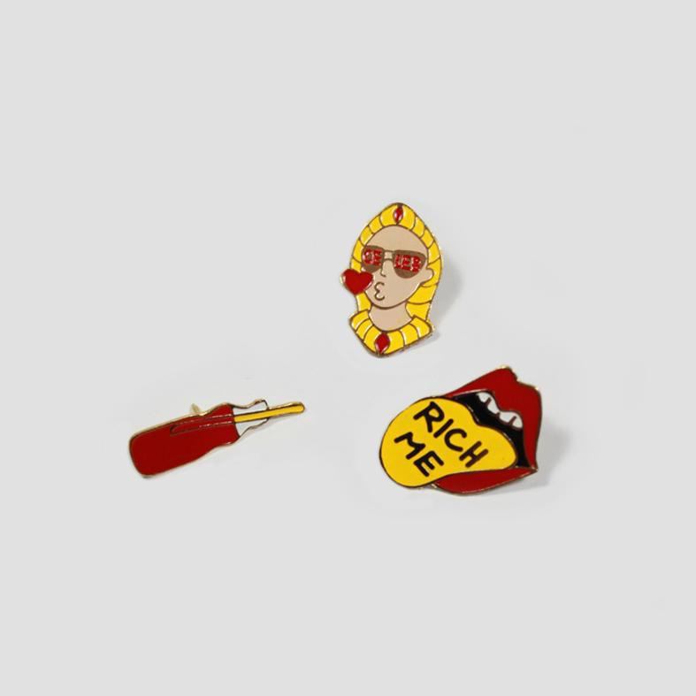 Lucky Enamel Pin | Set 01   Colour : Various  size : W3 x D2.5 x H6 cm  price : 490 THB