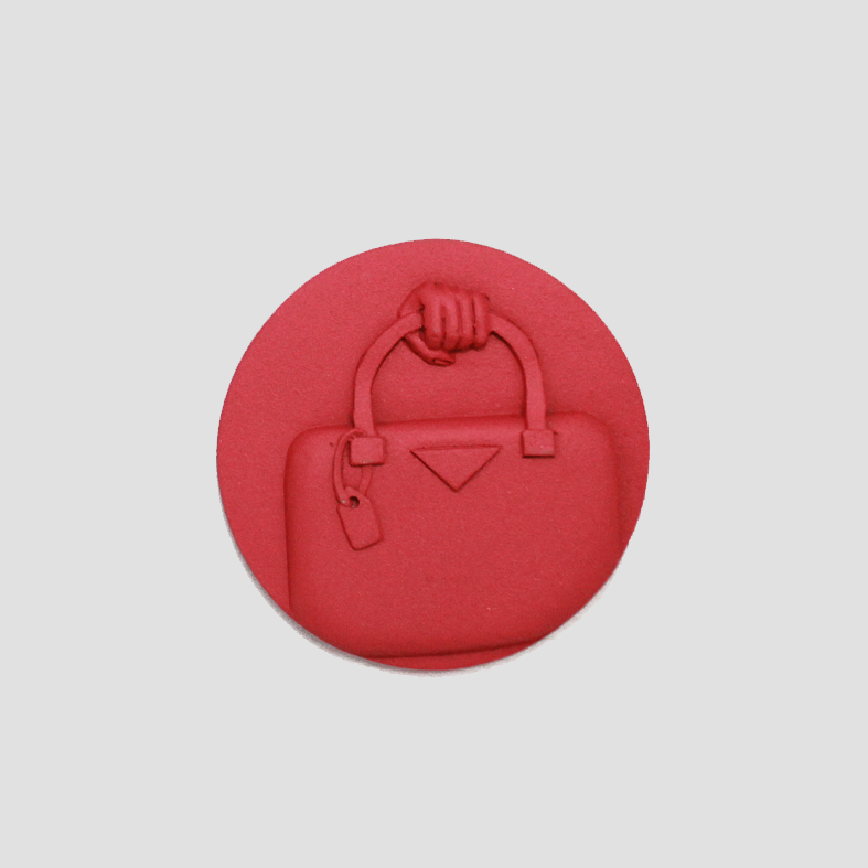Fame_Bag | Brooch   Colour : Red  size : W4 x D0.5 x H6 cm  price : 650 THB