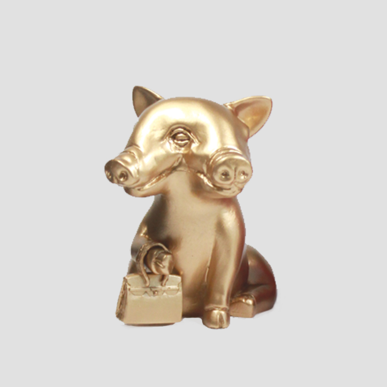 Lucky Pig | Object   Colour : Gold  size : W15 x D15 x H16 cm  price : 3,400 THB