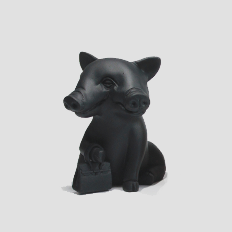 Lucky Pig | Object   Colour : Black  size : W15 x D15 x H16 cm  price : 3,400 THB