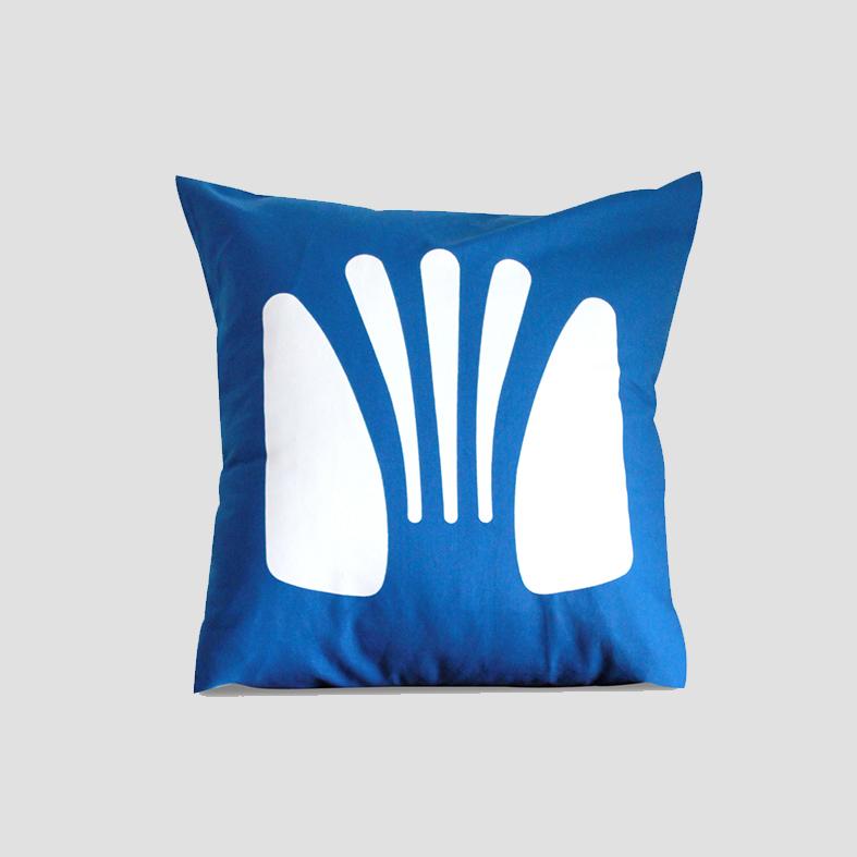 Chair | Cushion Cover   Colour : Blue  size : W50 x H50 cm  price : 495 THB