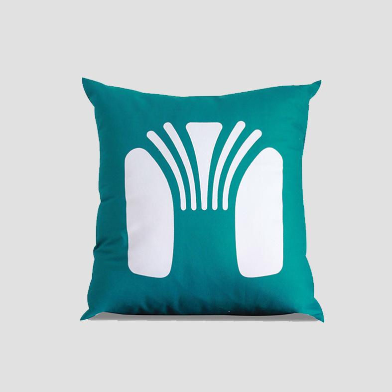 Chair | Cushion Cover   Colour : Green  size : W50 x H50 cm  price : 495 THB