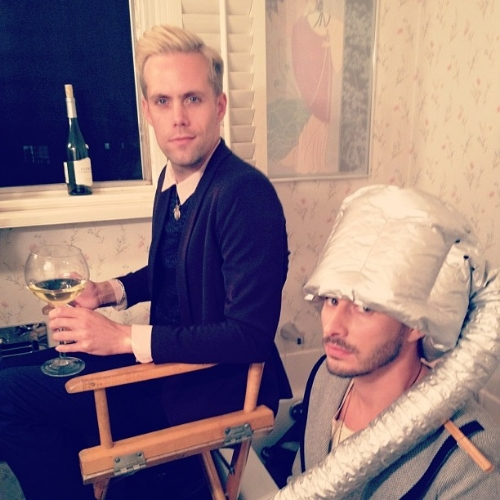 Getting the boys ready for their new music video @semipreciousweapons