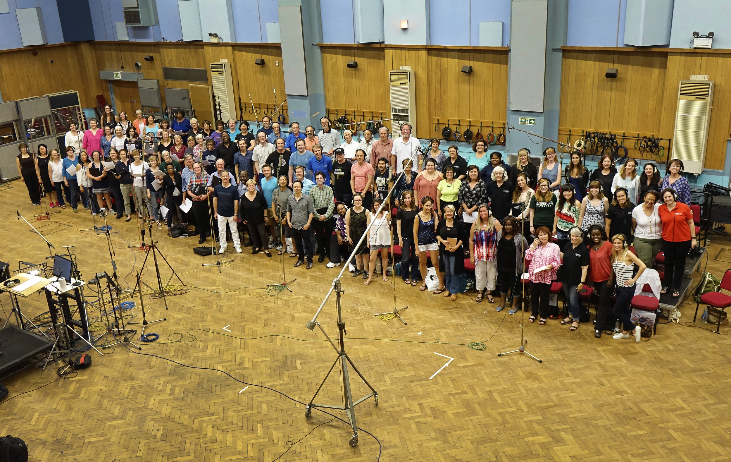 The Angel City Chorale at Abbey Road Studios