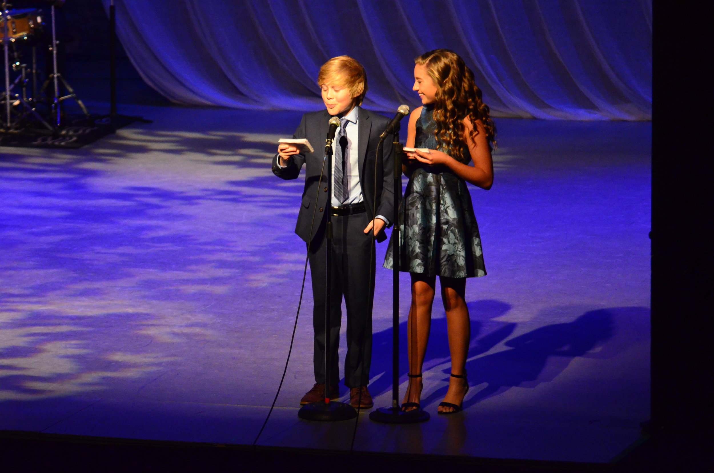 Lyrics for Life  Host's Casey Simpson & McKenzie Ziegler (Symphony Space, NYC)