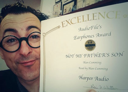 EARPHONES AWARD   Audiofile Magazine gave me an Earphones Award for my reading of the audiobook of Not My Father's Son