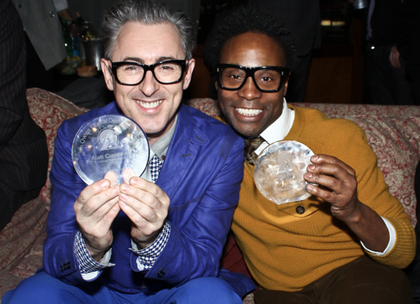 HUMAN RIGHTS AWARD   The Jim Owles Liberal Democratic Club awarded me with the Human Rights Award for support of progressive politics and my work in the LGBT community.  Here I am with fellow honoree Billy Porter