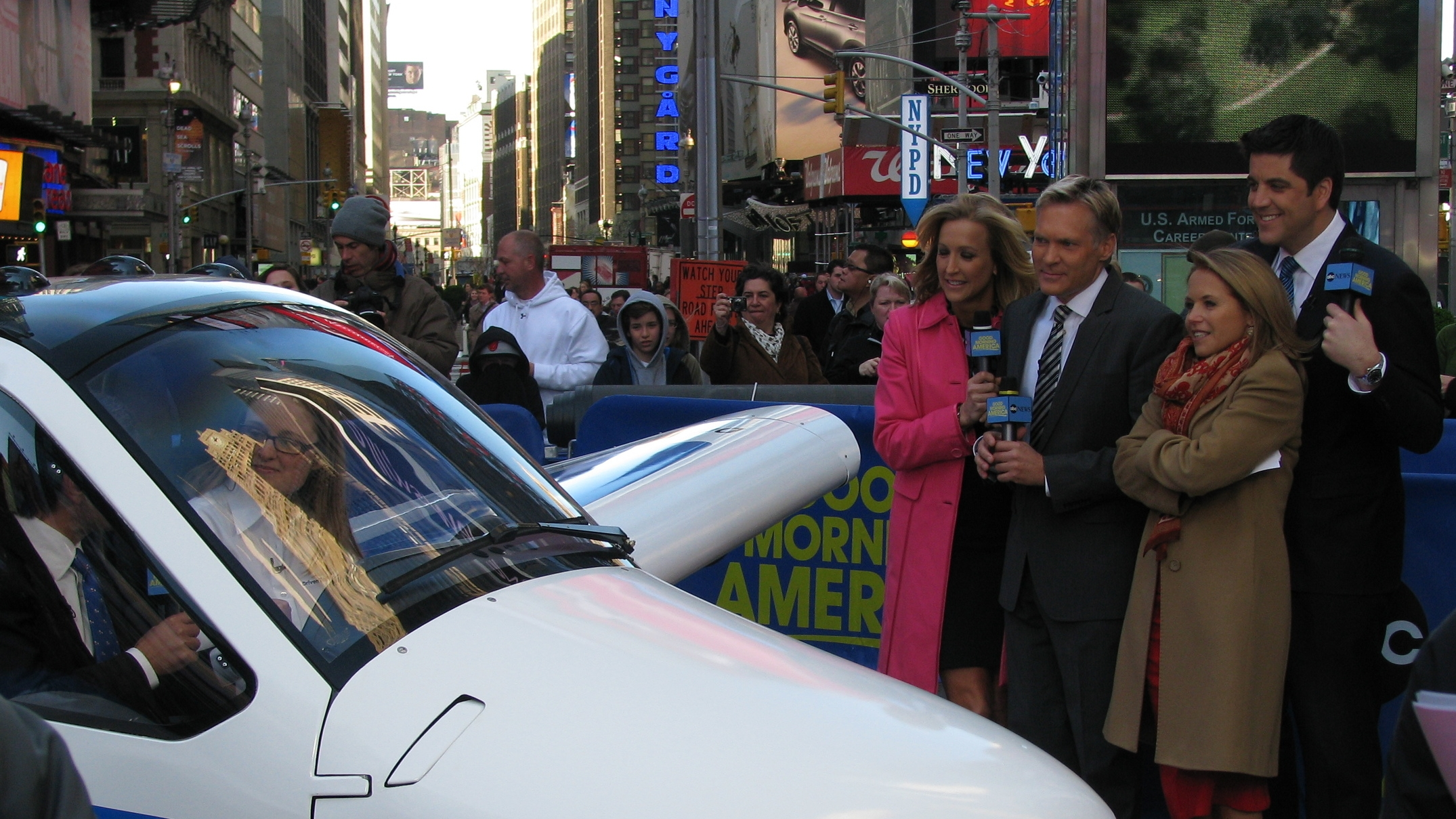 Anna demonstrating the Transition on Good Morning America in Times Square. Click image for video link.