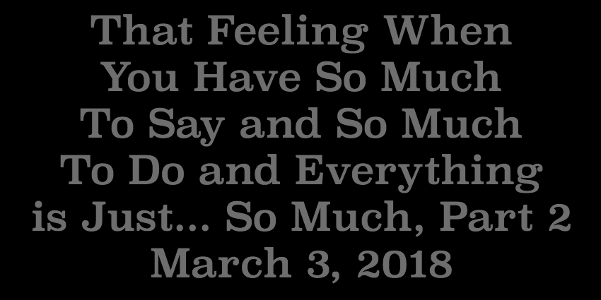March 3 2018 - That Feeling When You Have So Much To Say and So Much To Do and Everything is Just So.jpg