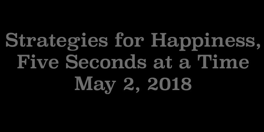 May 2 2018- Strategies For Happiness Five Seconds at a Time.jpg