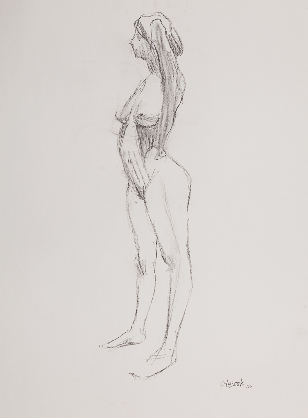 09  Standing Female Nude Side