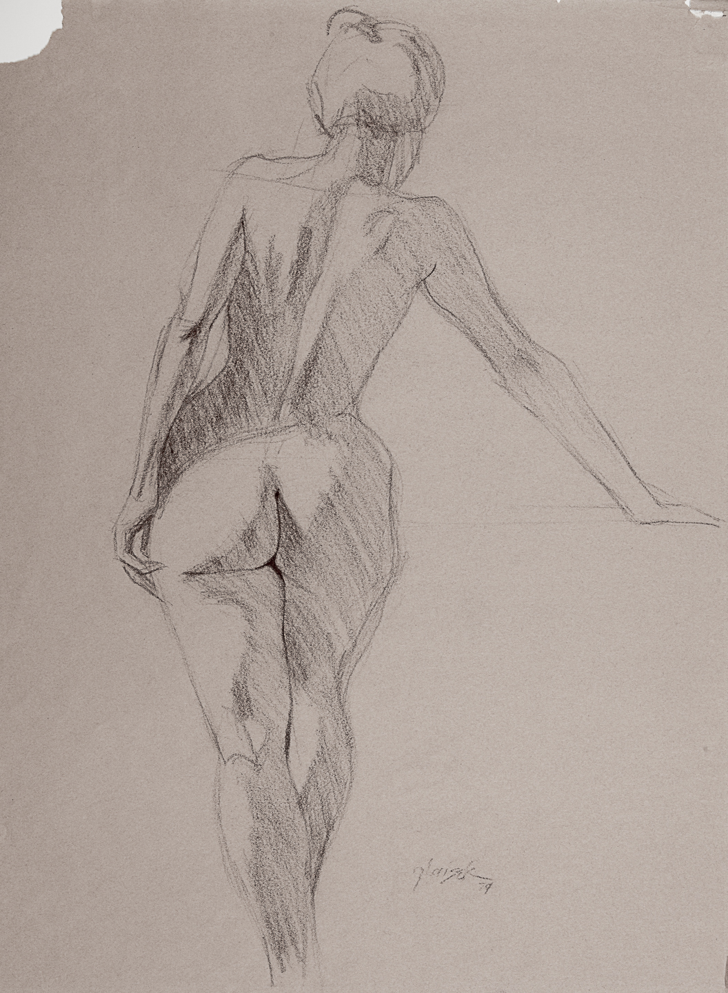 08  Standing Female Nude Back