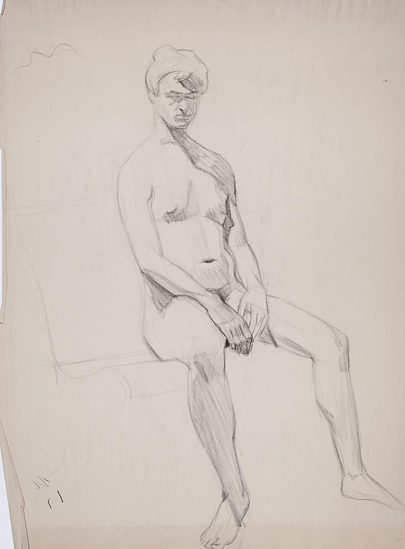 18   Seated Male Nude