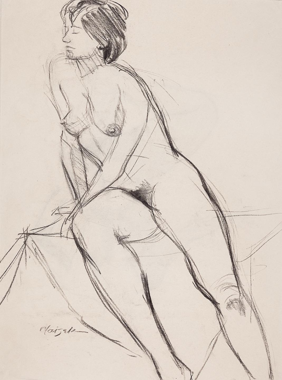 20  Half Seated Female Nude