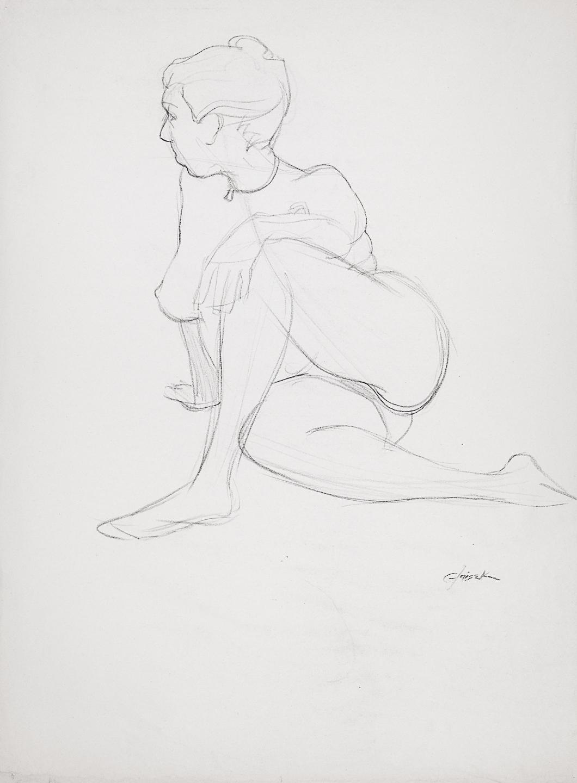 24  Seated Female Nude