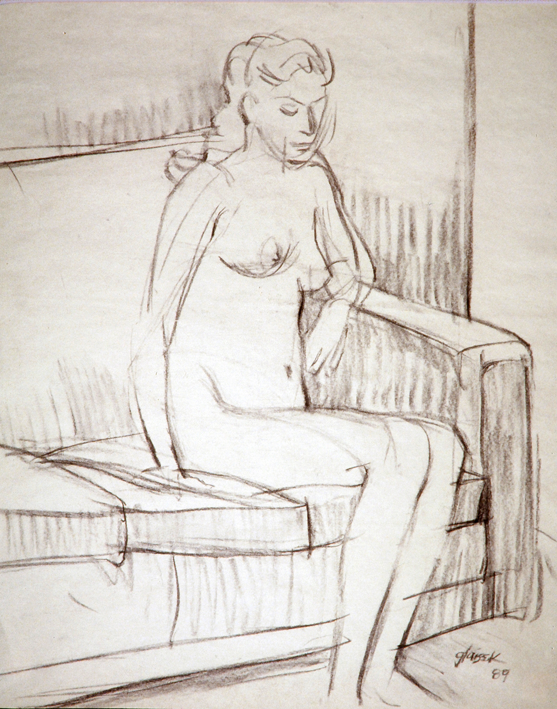 40  Female Nude Seated