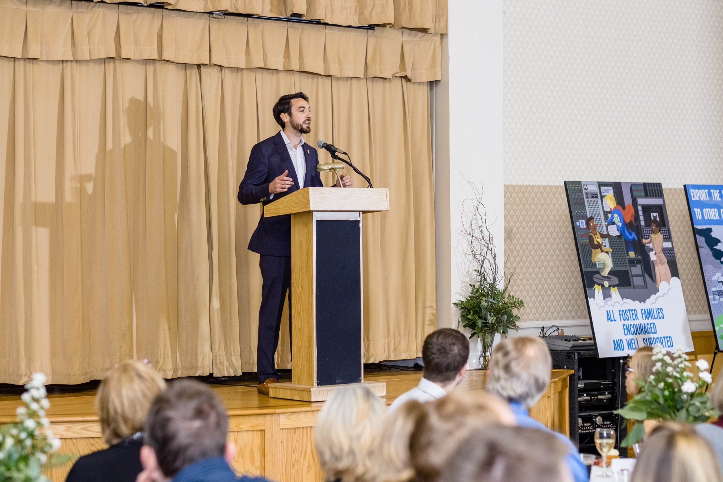 Skookum Kids Founder and Executive Director Ray Deck, speaks at Skookum's first fundraiser on Friday, Nov. 10, 2017 at the Majestic Ballroom in Bellingham, Washington.(Photo by Anthony Fiorillo). Over 200 people attended the event and Skookum raised $28,000 that night.