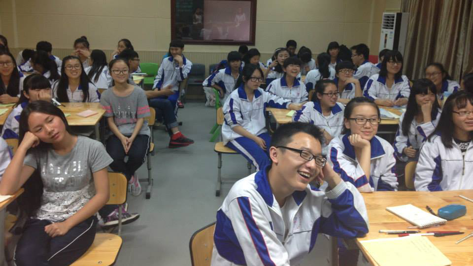 One of the classes in Rural China that Kris visited with his organization