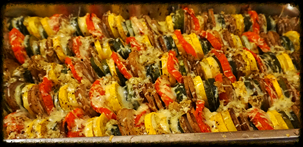 SUMMER VEGETABLE TIAN WITH ITALIAN CHEESE BLEND