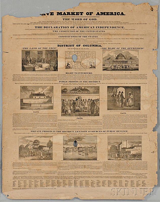Lot 69 Slave Market of America , Broadside.