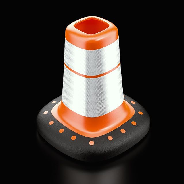 Traffic cone design for this weeks @renderweekly.  Really happy with how the @3m reflective tape turned out.  Modeled in @adskfusion360 rendered in @keyshot3d. #renderweeklys3w10  _ _ _ _  #renderweekly #render #keyshot #keyshotrender #fusion360 #digitalrender #industrialdesign #productdesign #renders #render_contest #renderoftheday #3drender #3dcad #cg #cgi #design #gsgdaily  #designlife #designinspiration #innovative #product #productdesigner #designstudent #designideas #innovation #id #industrialdesigner