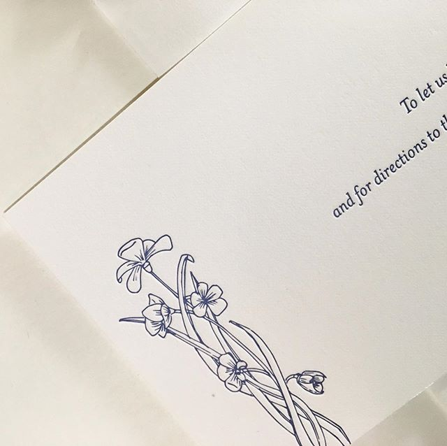 Details, details. Floral drawing by the bride.  #printmaking #weddinginvitations #letterpress #dailydoseofpaper #smpweddings #marthastewartweddings #californiawedding #calabasaswedding #austinbride #vertallee