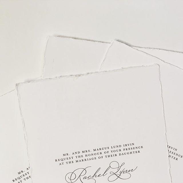 Deckled edges can present a challenge on press but are always worth it.  #letterpress #printmaking #dailydoseofpaper #weddinginvitations #ohsobeautifulpaper #smpweddings #marthastewartweddings #austinweddings #theknot #vertallee