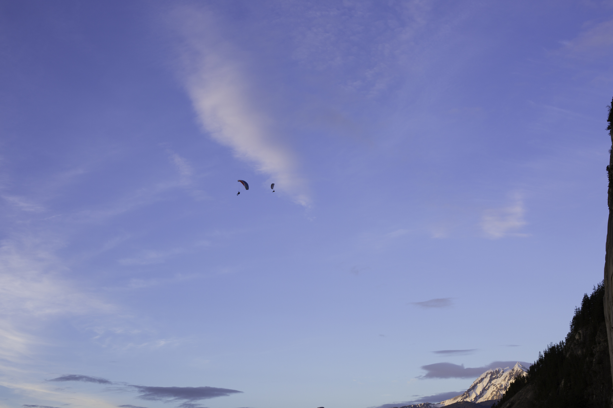 Speed fliers taking to the sunset skies with Atwell and Garibaldi in the background and the chief on the side.