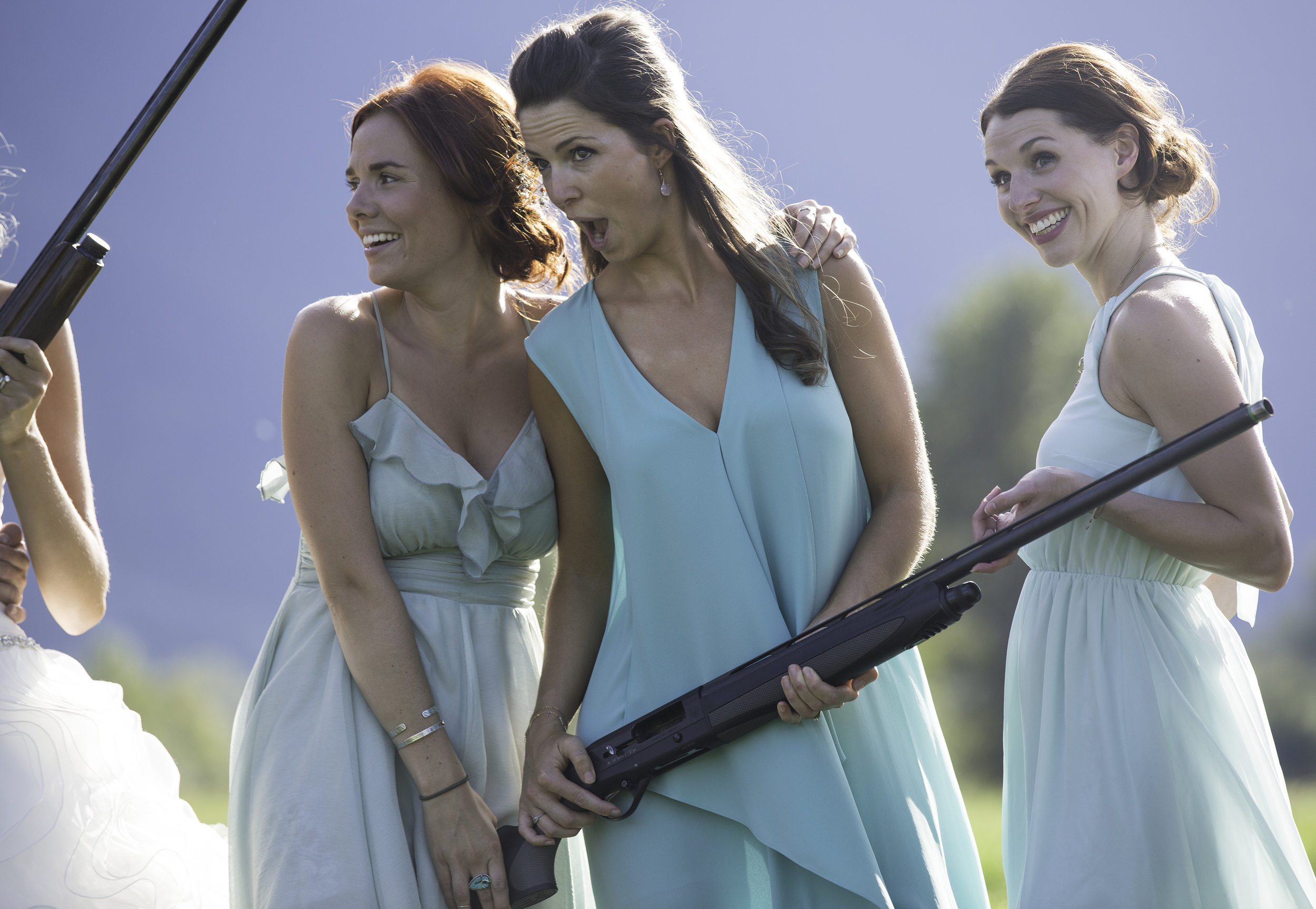 Laughs, shotguns and shotskis. The bridesmaids were a blast.