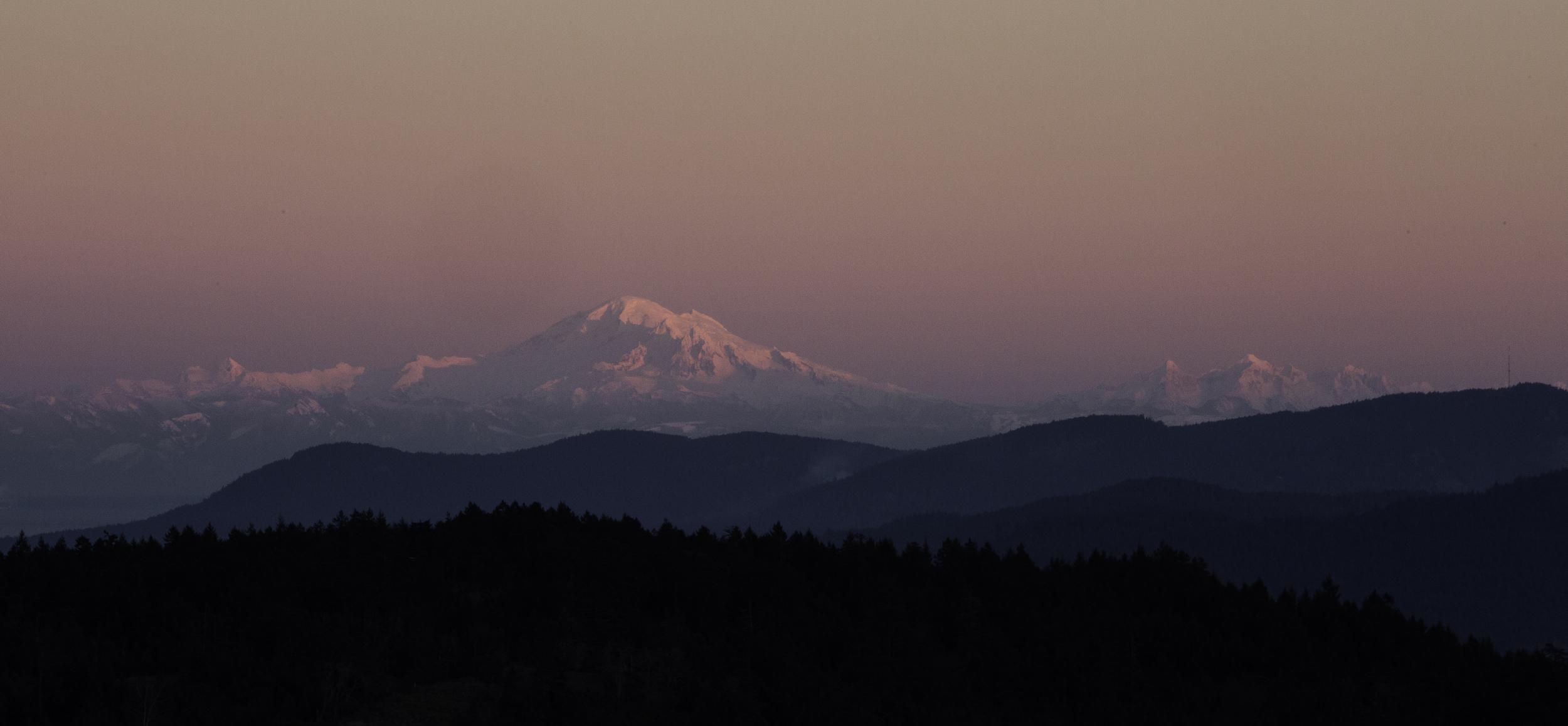 Mt. Baker from Salt Spring Island