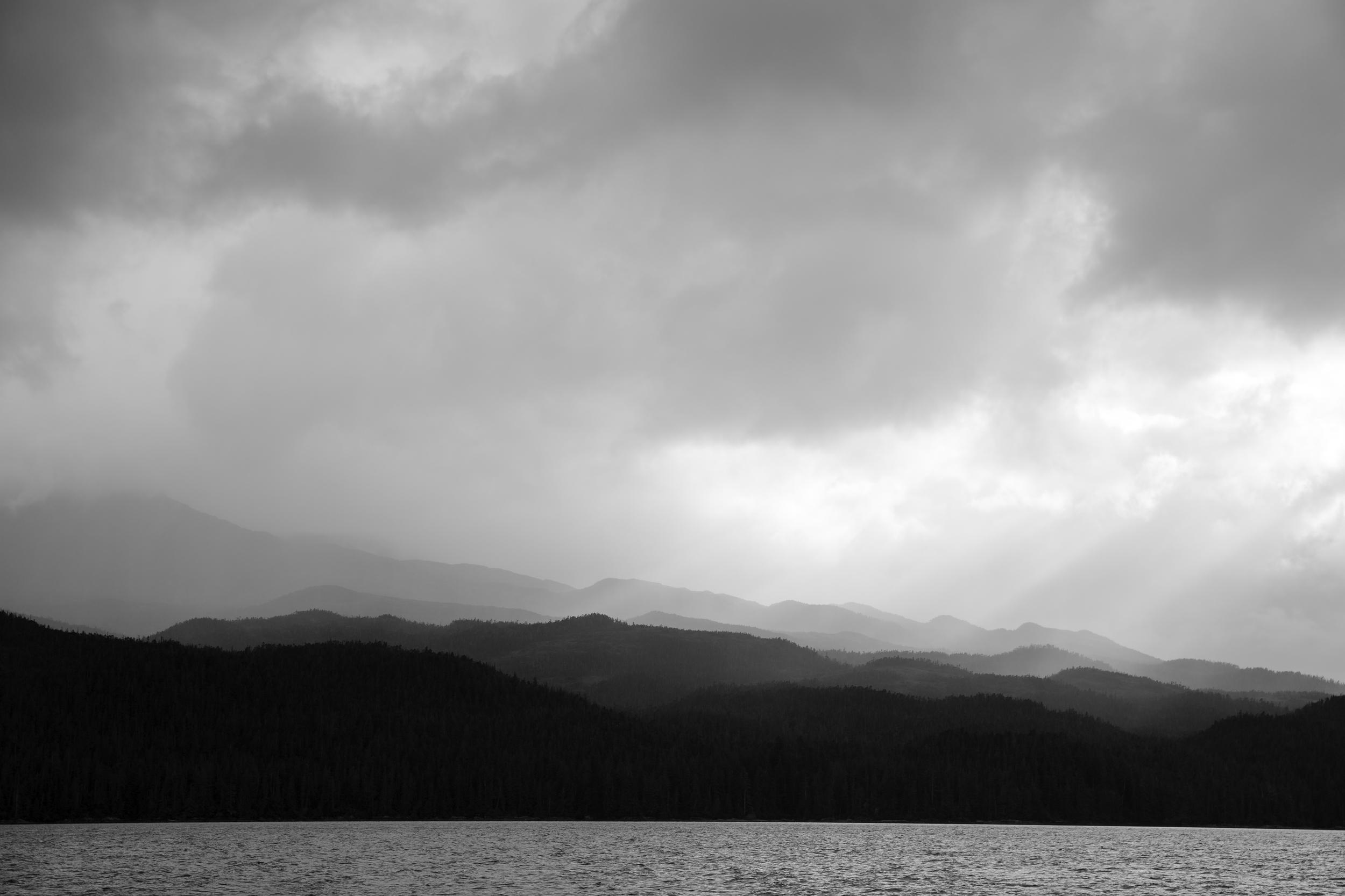 Calvert Island basks in coastal rains and the cloud dance of late evening light.