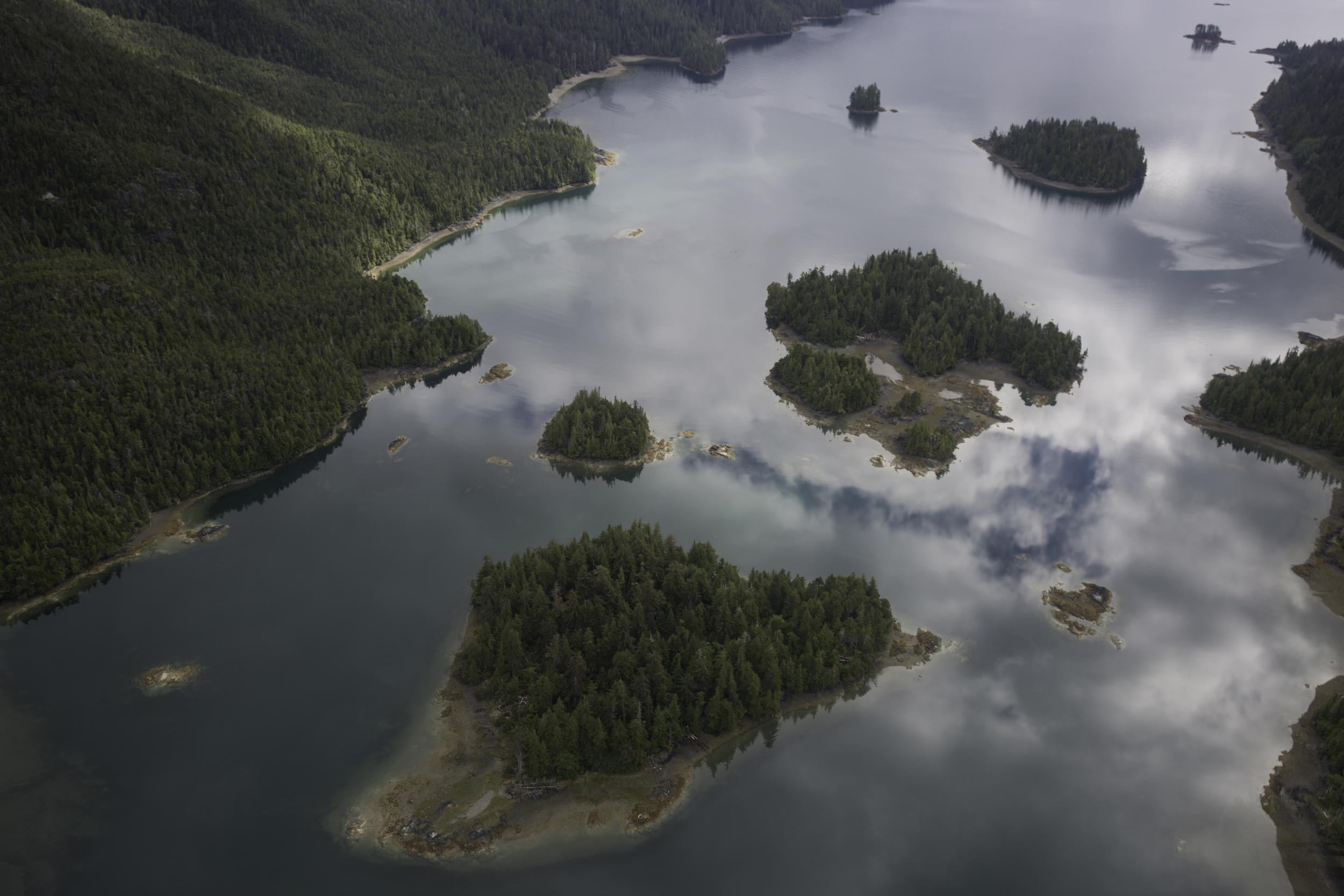 Flying over Gwaii Haanas, Haida Gwaii