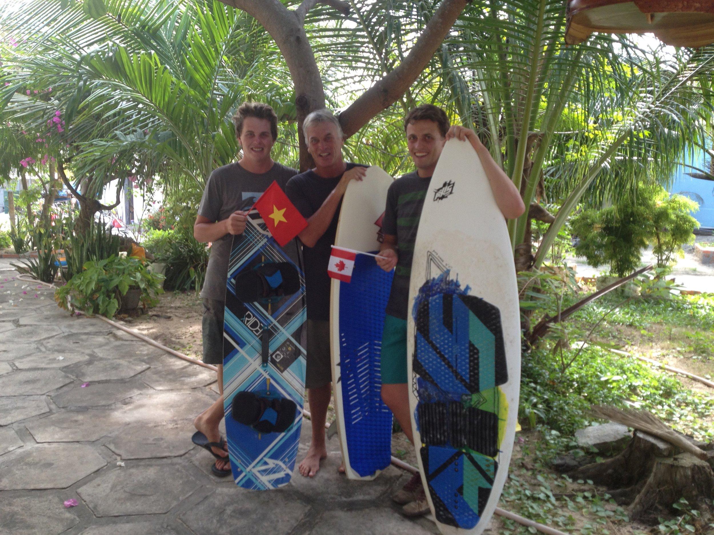 Evan, Dad & I at Nhat Thi's