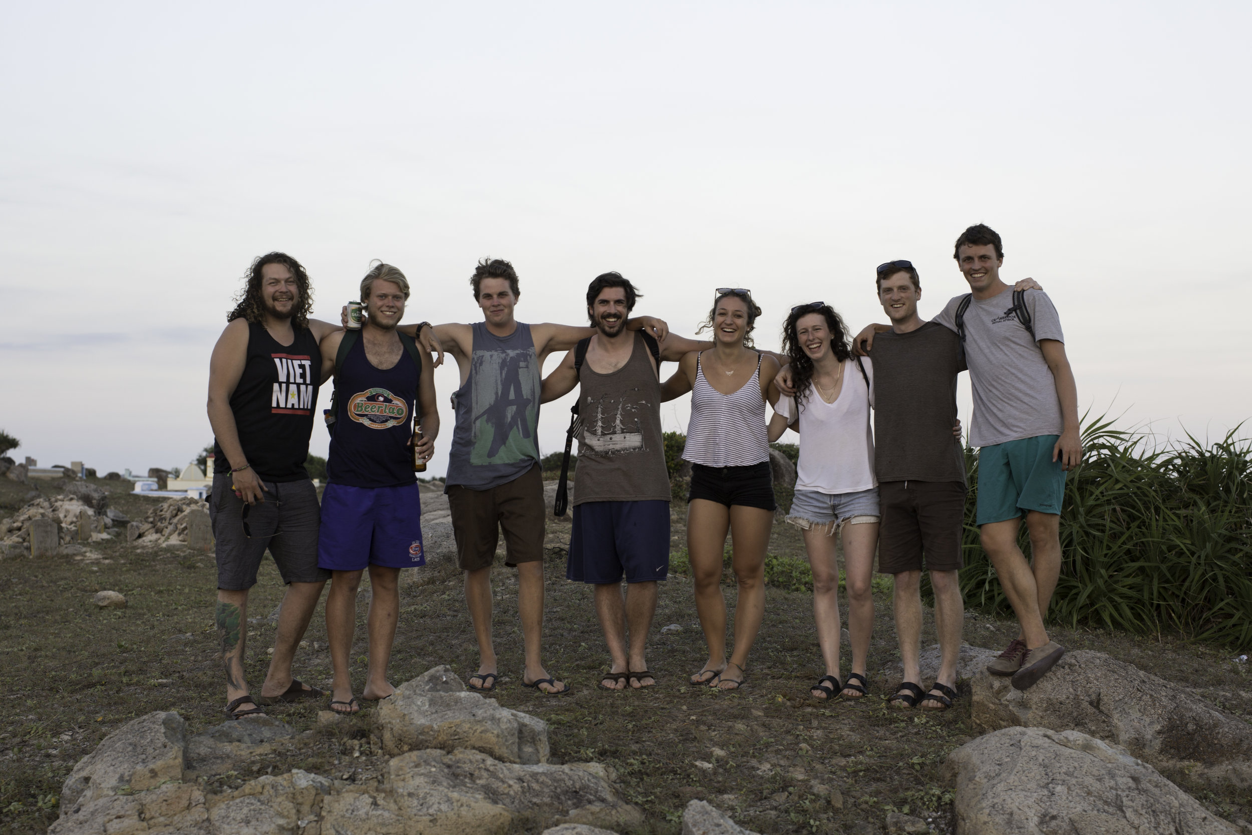 Surprised by a crew of Salt Springers and a German on my birthday -Ben, Kyle, Evan, Stu, Carina, Sallë, Kevan & me