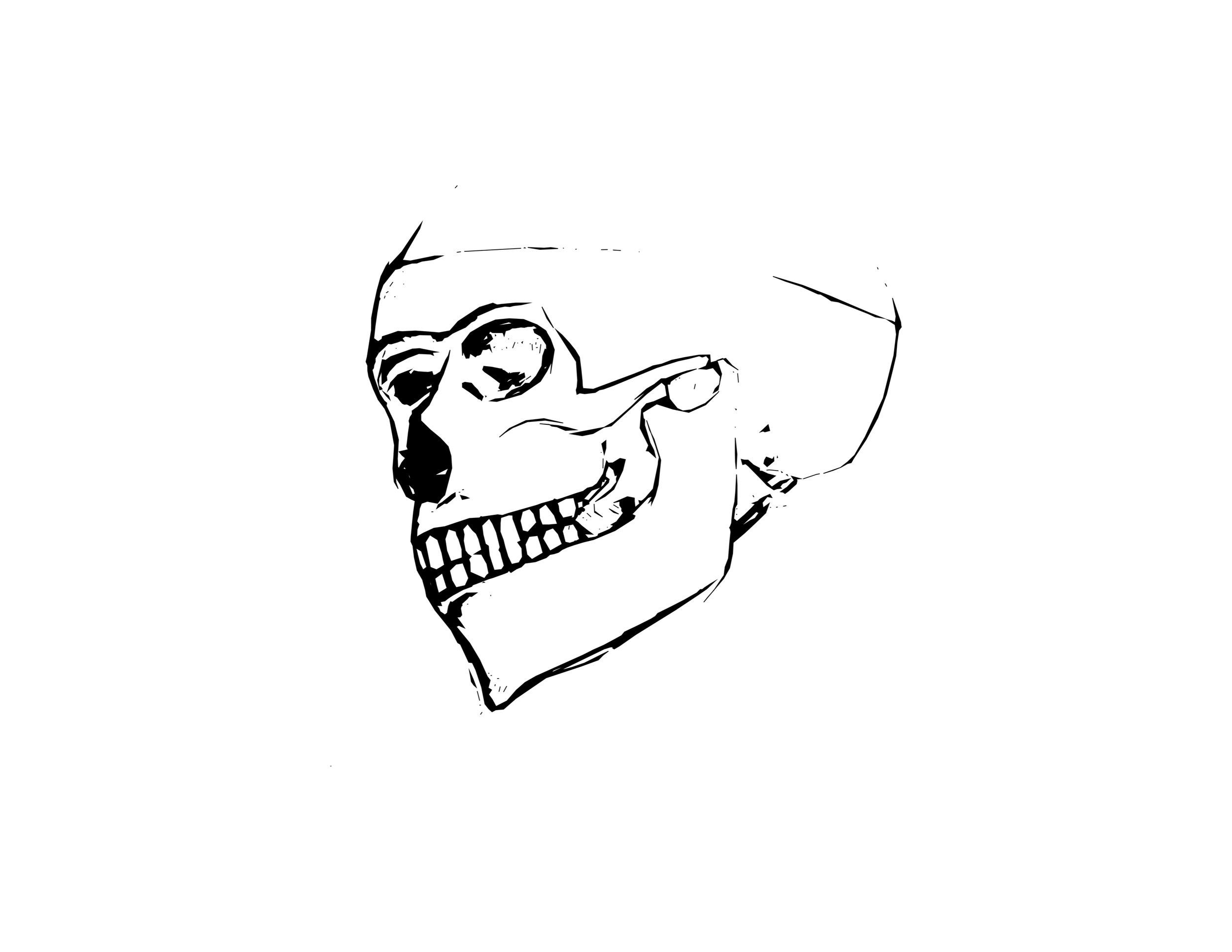 Pop art: Skull [sketch + illustrator]