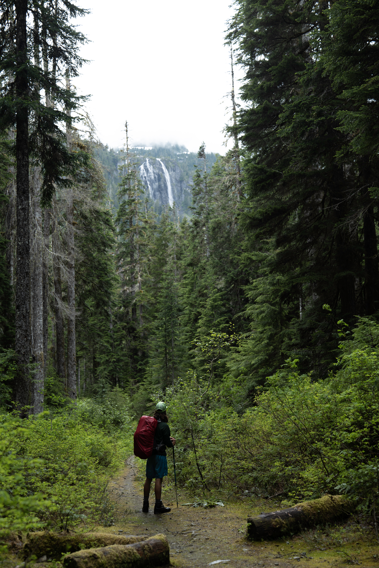 Della Falls in the distance.