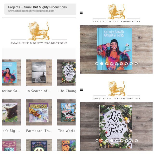 Check out some of our recent new projects - website updates now live - smallbutmightyproductions.com @jowhitton @ifoodblog @katherine_sabbath @studiomanusha  #publishing #bookpublishing #selfpublishing #bespokebookproduction #lifechangingfood #katherinesabbathgreatesthits #highendproduction #smallbutmightyproductions